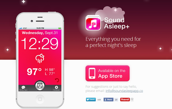 iPhone ios soundsleep landing page