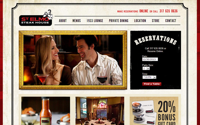 st elmo elmos steakhouse restaurant homepage