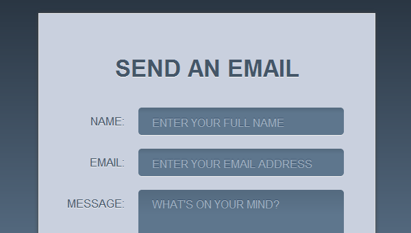 web development tips for stylish contact form properties