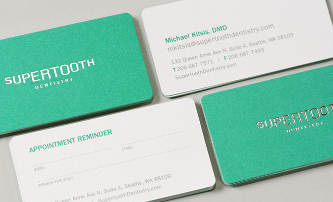 supertooth dentistry branding logo design print work
