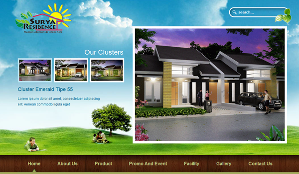 residence living houses website layout