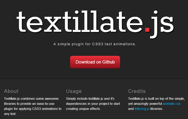 text animation effects jquery typography plugin