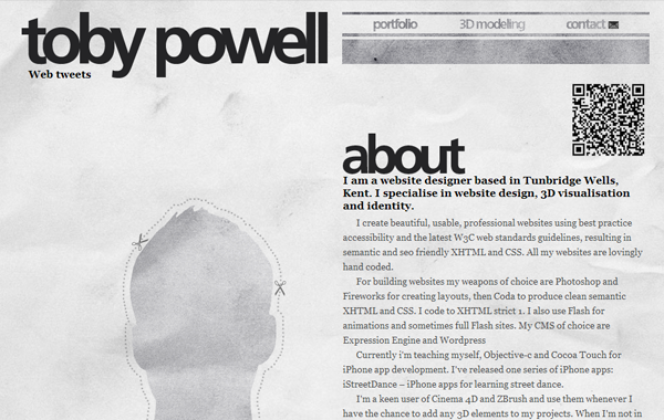 powell website interface portfolio inspiration