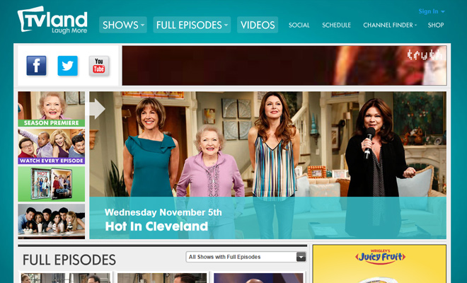 tv land classics television channel website