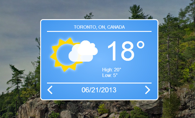 css3 open source weather widget