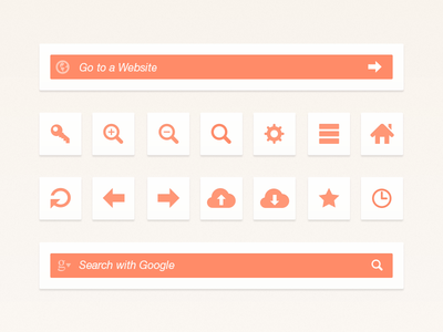 freebie web browser ui interface icons