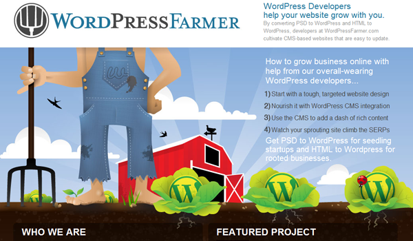 Wordpress Farmer online theme illustration