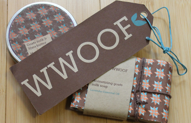 wwoof brown tag identity branding