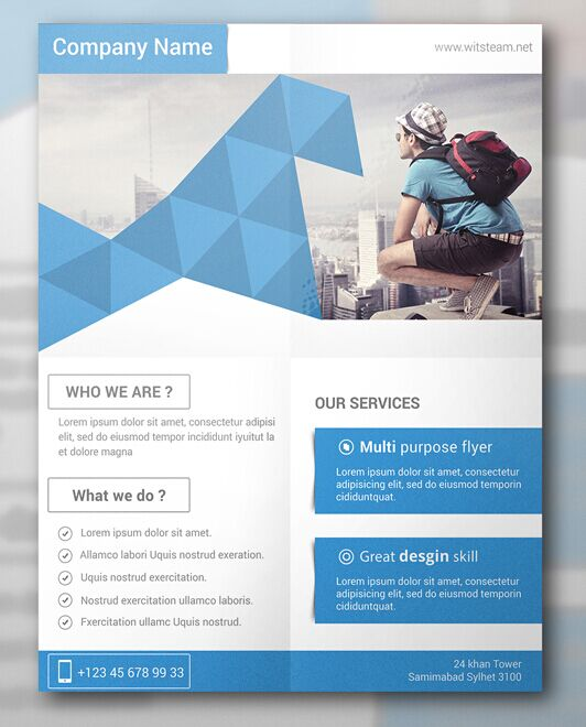 Web Flyer | Collection Of 30 Free Flyer Mockup Designs