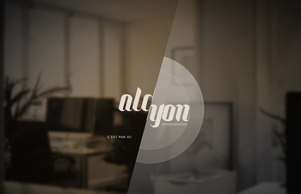 fullscreen website layout alcyon communication