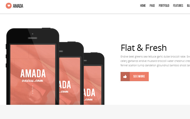 amanda flat fresh website theme portfolio