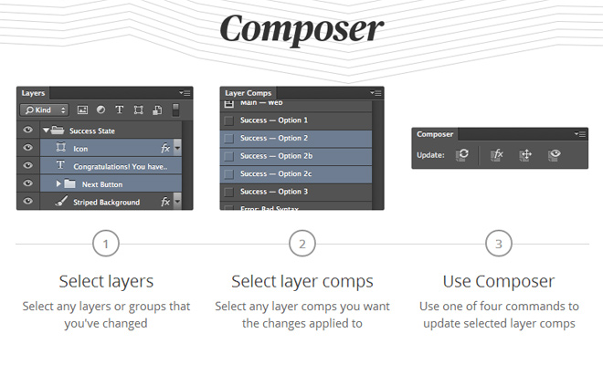 composer photoshop layers plugin comps