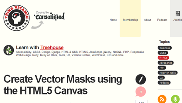 vector mask tutorial for HTML5 canvas element