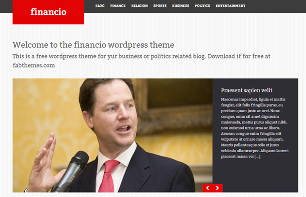 free open source wordpress theme download financio