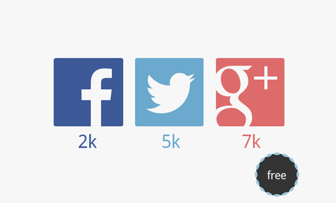 flat social network logo icons set