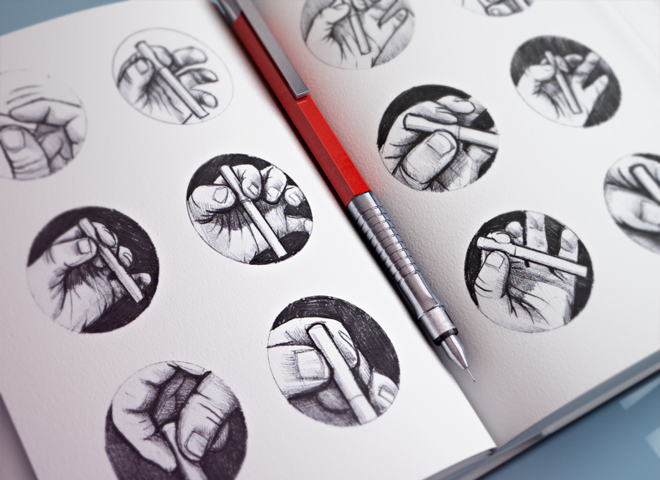 hand icon sketches illustration design