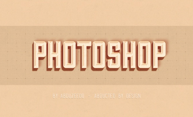 photoshop text effect hipster design