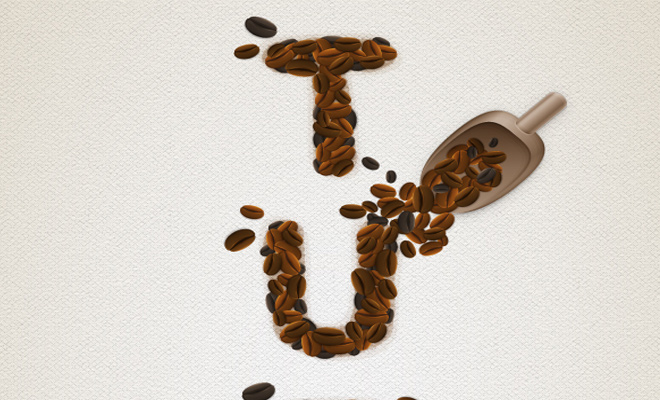 coffee bean text effect illustrator tutorial