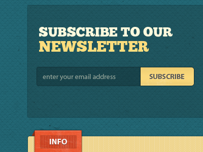 Signup for our newsletter form