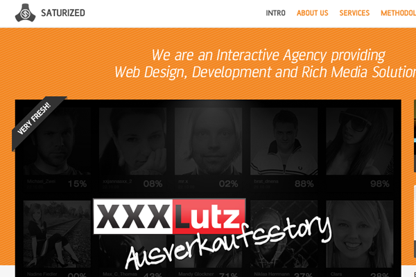 Saturized website layout orange design portfolio