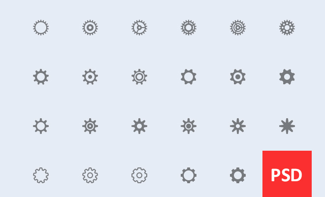 cog wheels machinery settings icons freebie