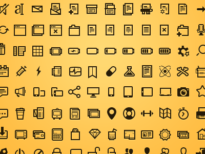 basic black dark website ui icons set