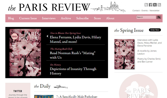 the paris review website magazine