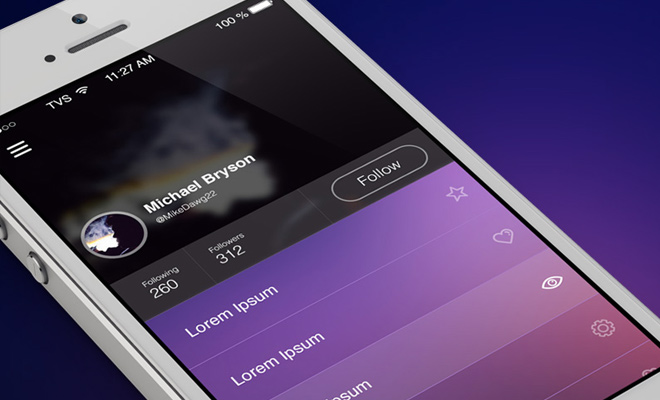 ios7 flat ui design freebie psd