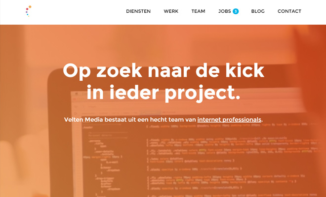velten media website fullscreen design inspiration