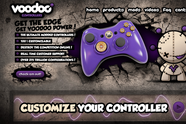 Custom Voodoo Controllers gaming ecommerce web shop
