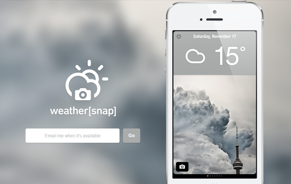 mobile ios iphone app website landing webpage weather