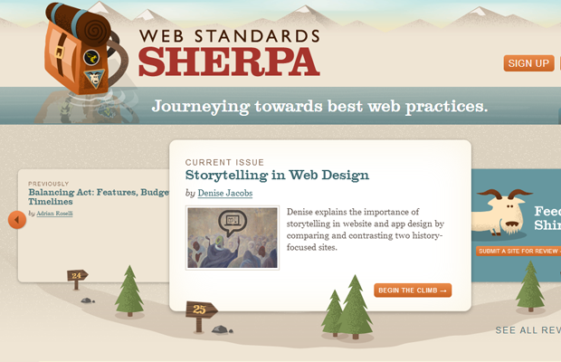 sherpa website standards conf beige layout
