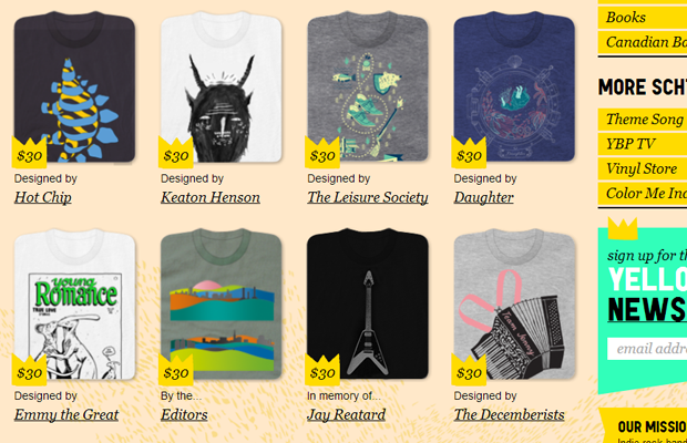 tshirts fashion products ecommerce website yellowbird