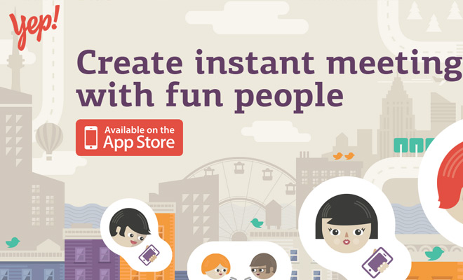 lets yep app homepage