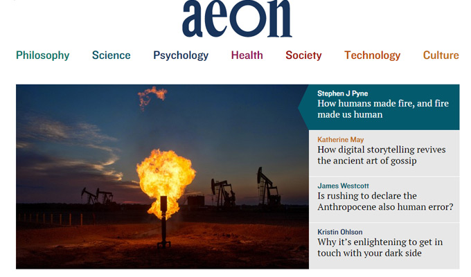 aeon magazine website design
