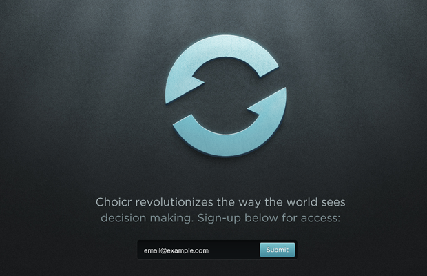 choicr website landing page design inspiration