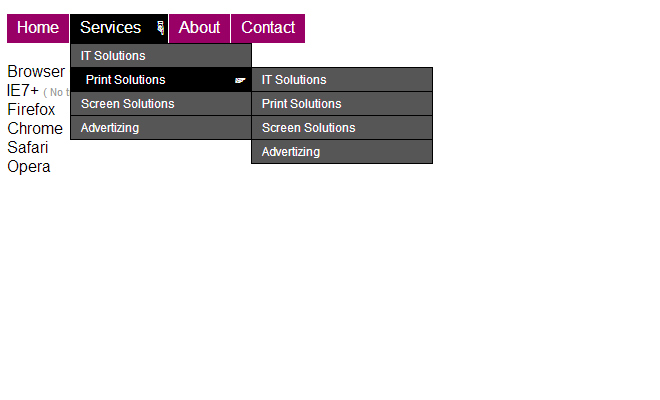 css3 simple drop down navigation menu ui