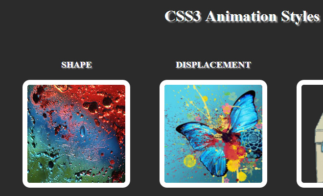 hover effects css3 animation open source