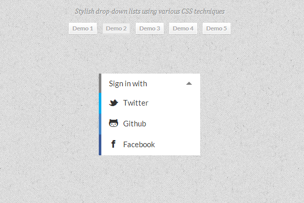 dropdown links navigation menu custom styles css3