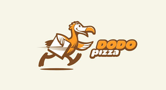 yellow bird dodo pizza logo