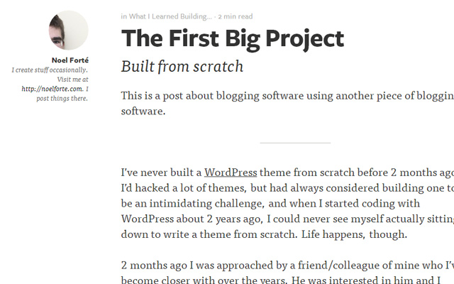 article writing personal experience wordpress blogging