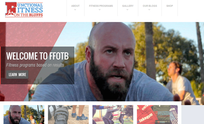 functional fitness website layout design inspiration