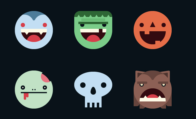 halloween mask icon smilies