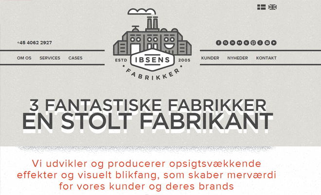ibsens fabrikker clean fixed scrolling navigation