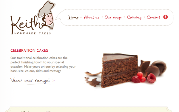 foods bakery online cupcakes cakes webdesign