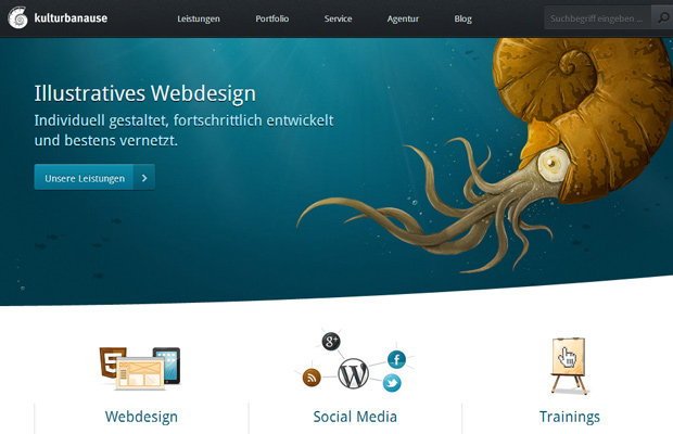 kulturbanause german de website homepage layout graphics