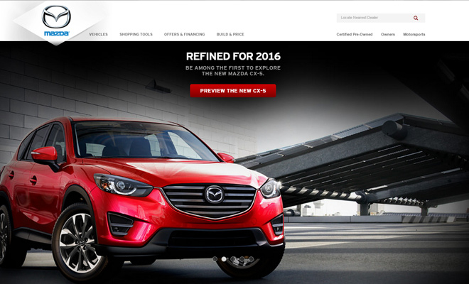 mazda homepage cars automobile