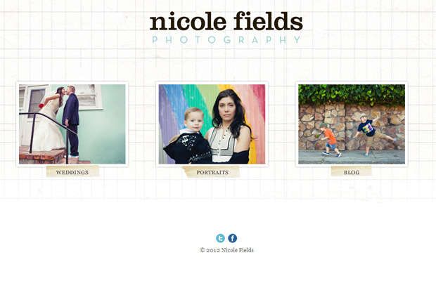 nicole fields photography blog website layout