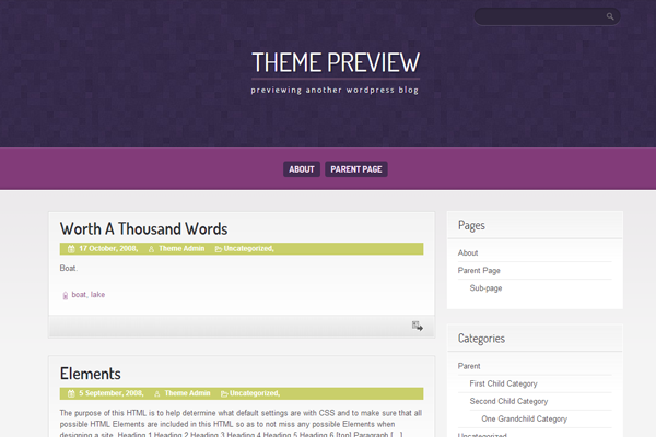wordpress purple pro layout design ui interface