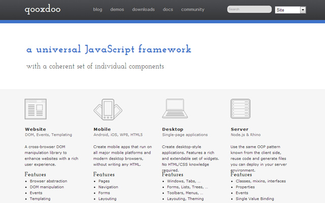 woozdoo website javascript framework components mobile design